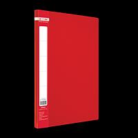 Папка пластикова A4 з боковим притиском JOBMAX, червоний, фото 1