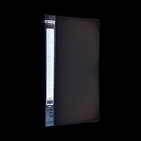Папка пластикова A4 з боковим притиском JOBMAX, чорний, фото 1