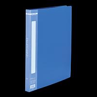 Папка пластикова A4 з боковим притиском, синій