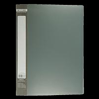 Папка пластикова з 30 файлами А4 JOBMAX, сірий