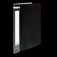 Папка пластикова з 10 файлами А4 JOBMAX, чорний