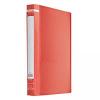 Папка пластикова з 20 файлами А4 JOBMAX, червоний