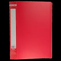Папка пластикова з 30 файлами А4 JOBMAX, червоний