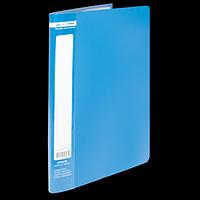 Папка пластикова з 10 файлами А4 JOBMAX, синій