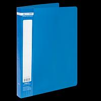 Папка пластикова з 40 файлами А4 JOBMAX, синій