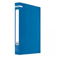 Папка пластикова з 60 файлами А4 JOBMAX, синій