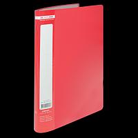 Папка пластикова з 10 файлами А4 JOBMAX, червоний