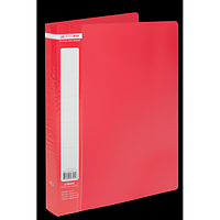 Папка пластикова з 40 файлами А4 JOBMAX, червоний