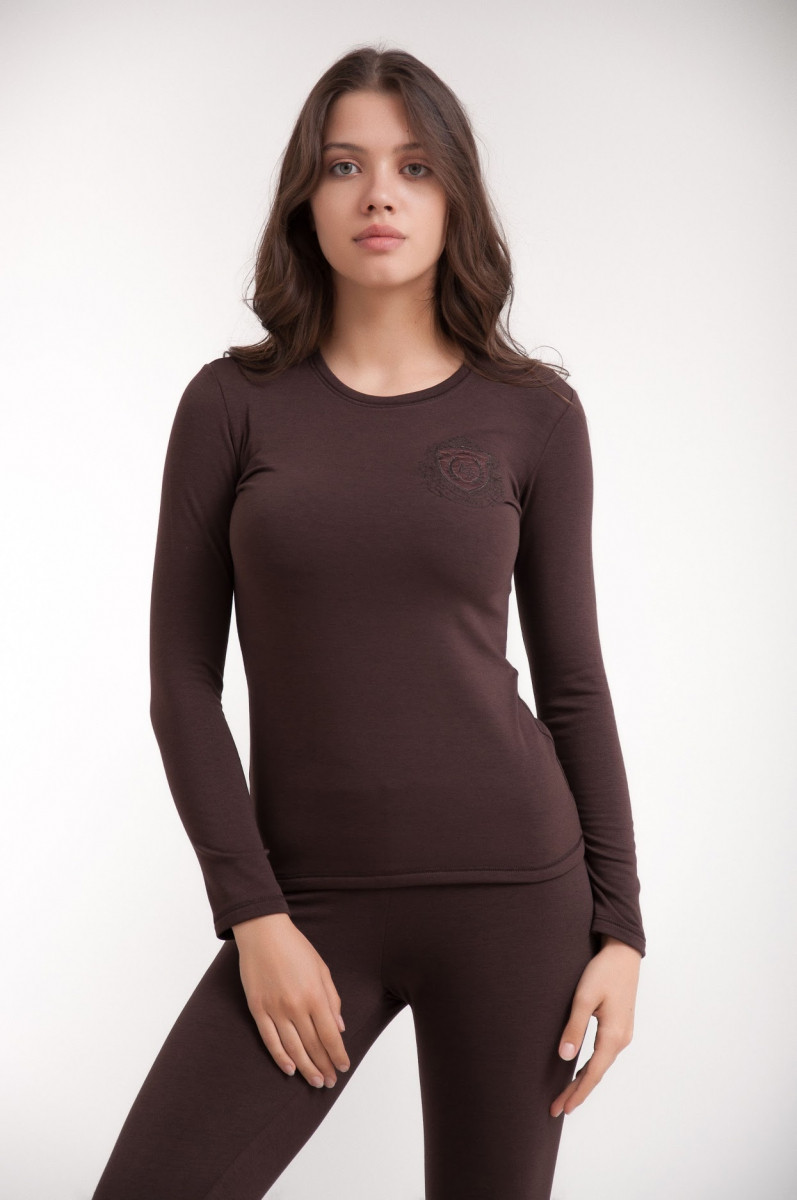 Джемпер женский KIFA ДЖ-019/57 коричневый