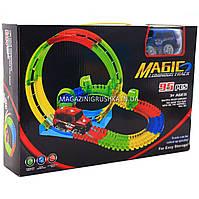 Автотрек Magic Tracks (Мэджик Трек) со светящейся машинкой - 95 деталей (YM-812)