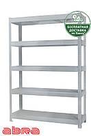 Стеллаж металлический для склада/магазина/гаража ЧК-300 2500х1840х920, покрашен.,5 полок ЛДСП, до 400 кг/полку