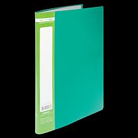 Папка пластикова з 10 файлами А4 JOBMAX, зелений