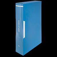 Папка пластикова з 80 файлами А4 (у чохлі), синій, фото 1