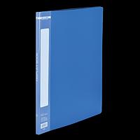 Папка пластикова з 10 файлами А4, синій