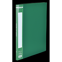 Папка пластикова з 10 файлами А4, зелений