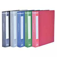 Папка пластикова з 60 файлами А4, зелений
