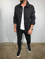 Мужская джинсовая куртка Black Island 5405 black