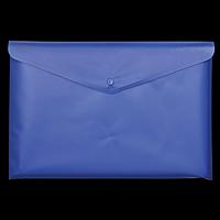 Папка-конверт А5 на кнопці, напівпрозора, синій
