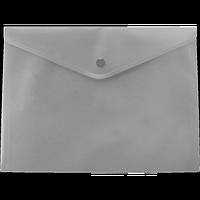 Папка-конверт А5 на кнопці, сірий
