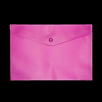 Папка-конверт А5 на кнопці, рожевий