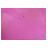 Папка-конверт А4 на кнопці, рожевий