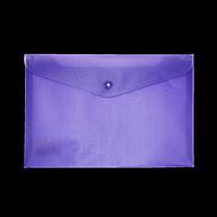 Папка-конверт А5 на кнопці, фіолетовий