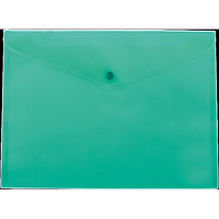 Папка-конверт А4 на кнопці, бірюзовий