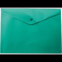 Папка-конверт А4 на кнопці, зелений