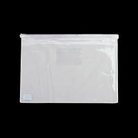Папка-конверт А5 на блискавці, прозора, білий