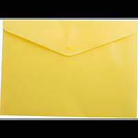Папка-конверт А4 на кнопці, жовтий