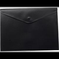 Папка-конверт А5 на кнопці, чорний