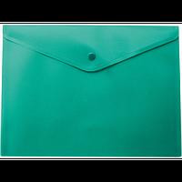 Папка-конверт А5 на кнопці, зелений