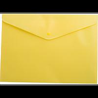 Папка-конверт А5 на кнопці, жовтий