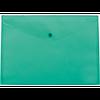 Папка-конверт А5 на кнопці, напівпрозора, салатовий