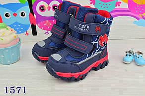 Термо Ботинки детские зимние с мехом  из эко-кожи на мальчика   23-28 р., фото 3