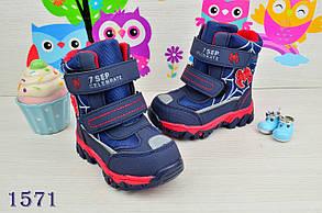 Термо Ботинки детские зимние с мехом  из эко-кожи на мальчика   23-28 р., фото 2