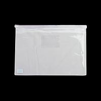Папка-конверт А4 на блискавці, прозора, білий