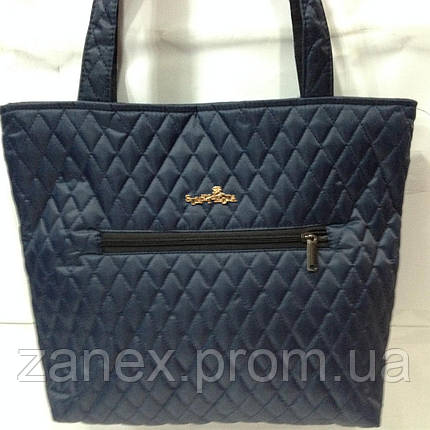 Женская сумка стеганая (синяя), фото 2