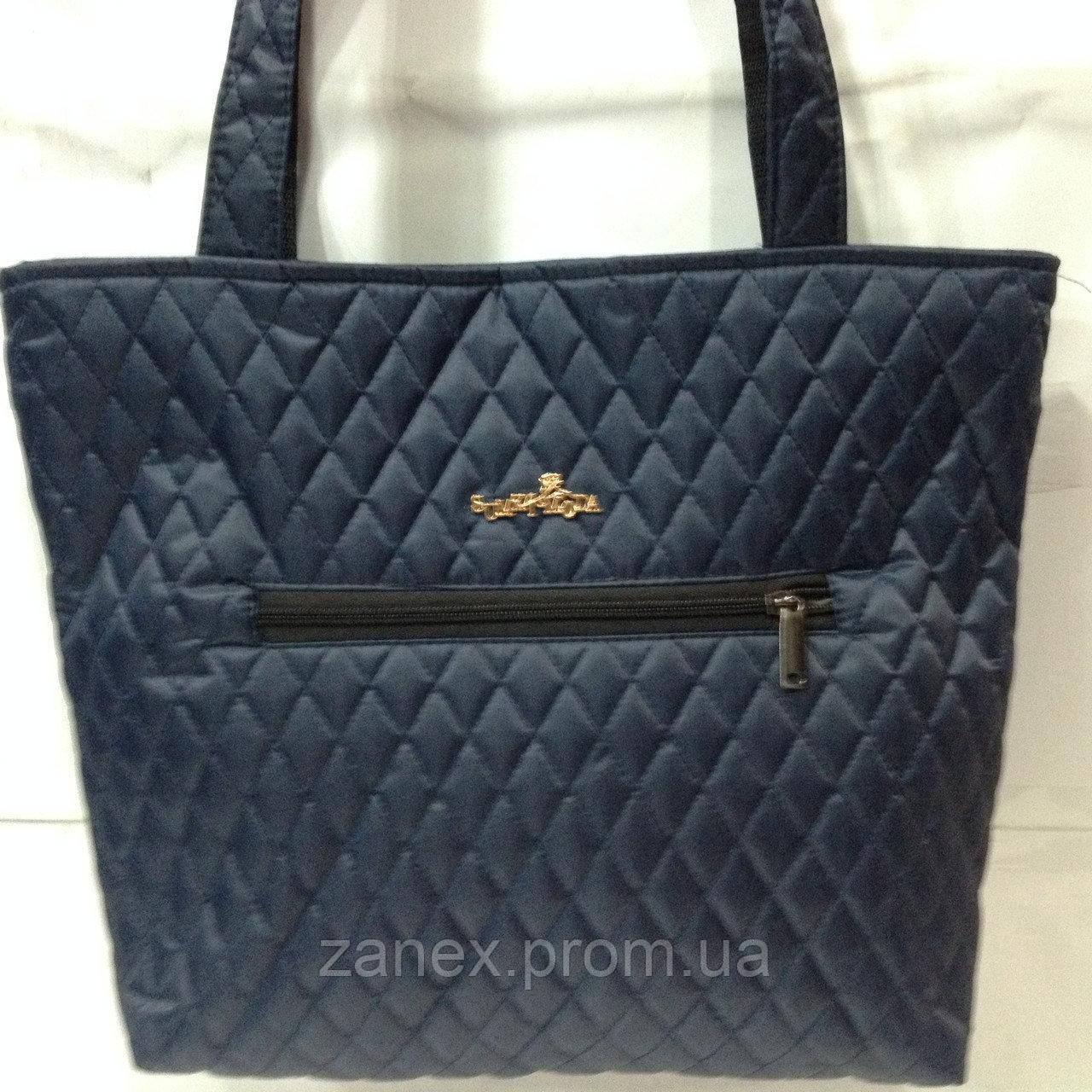 Женская сумка стеганая (синяя)