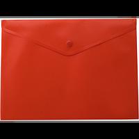 Папка-конверт А4 на кнопці, червоний