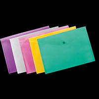 Папка-конверт А4 на кнопці, асорті