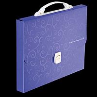 Портфель A4/35мм, BAROCCO, фіолетовий