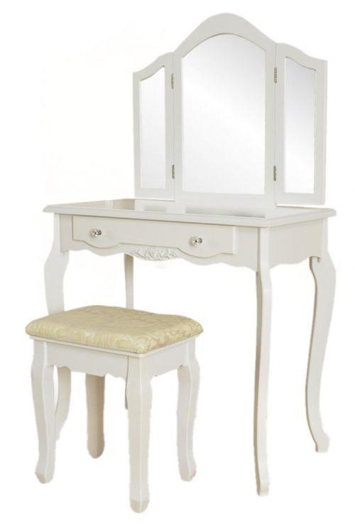 Туалетный столик GoodHome W-HY-220 белый 3 зеркала + табурет (9064)