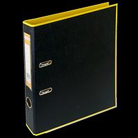 Регистратор BUROMAX, А4, 50 мм, PP, жовтий/чорний