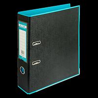 Регистратор BUROMAX, А4, 70 мм, PP, блакитний/чорний