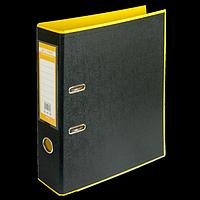 Регистратор BUROMAX, А4, 70 мм, PP, жовтий/чорний, фото 1