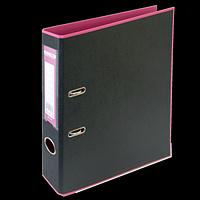 Регистратор BUROMAX, А4, 50 мм, PP, рожевий/чорний