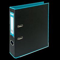 Регистратор BUROMAX, А4, 50 мм, PP, блакитний/чорний