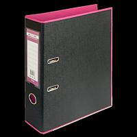 Регистратор BUROMAX, А4, 70 мм, PP, рожевий/чорний