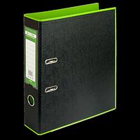Регистратор BUROMAX, А4, 70 мм, PP, салатовий/чорний, фото 1